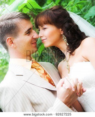 The walk of newlyweds