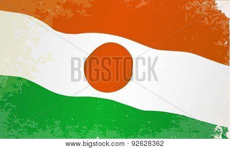Niger Flag Grunge