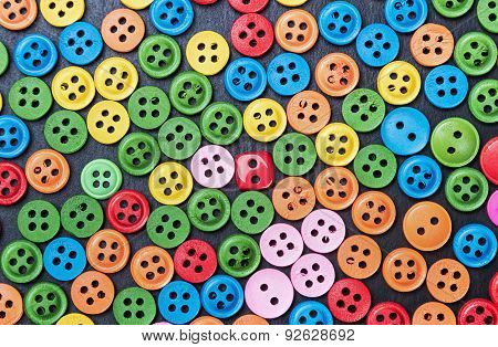 Mixed Coloured Bright Buttons Background