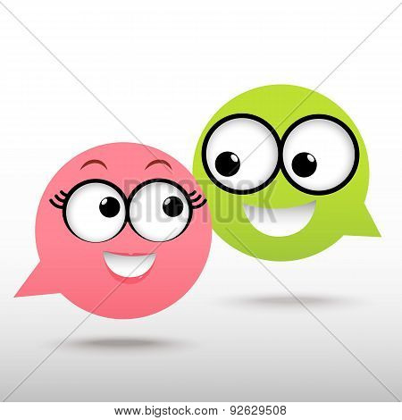 Smile Talking Bubble