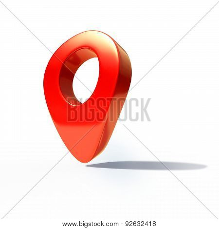 Shiny Gloss Red Map Pointer Icon