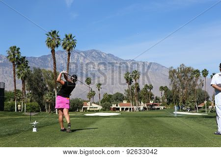 Amelia Lewis At The Ana Inspiration Golf Tournament 2015