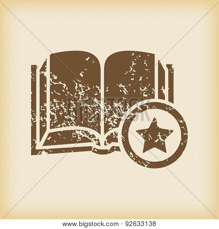 Grungy favorite book icon