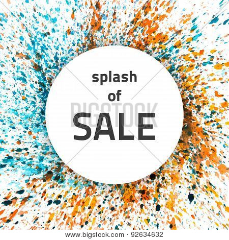 Vector Watercolor Splash Sale