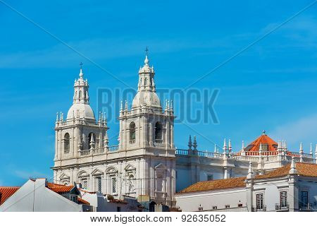 View Of Lisbon Saint Vicente De Fora Monastery, Portugal