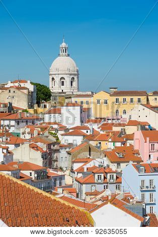 Lisbon Skyline With National Pantheon.