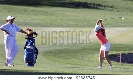 Katie Burnett At The Ana Inspiration Golf Tournament 2015