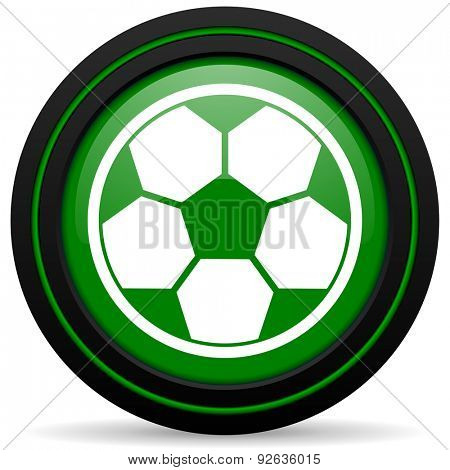 soccer green icon football sign