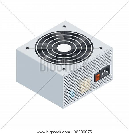 Power Supply Isometric Detailed Icon