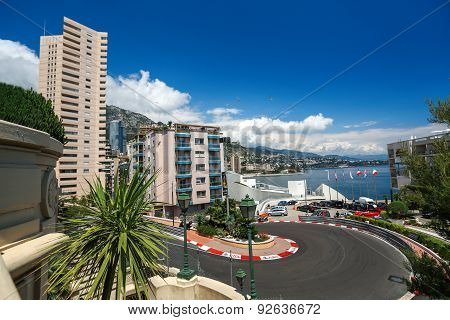 Monte Carlo, Monaco - 02 June 2014. Circuit De Monaco Is A Street Circuit Laid Out On The City Stree