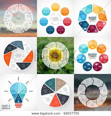 Vector circle infographic. Template for cycle diagram, graph, presentation and round chart. Business