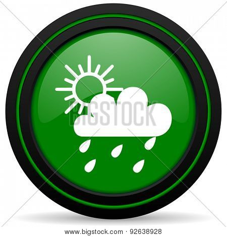 rain green icon waether forecast sign