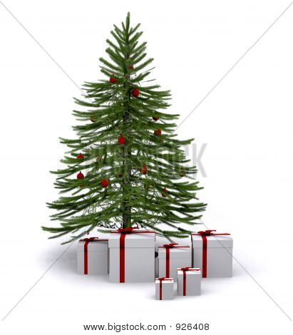 Christmas Tree With Gifts Around It