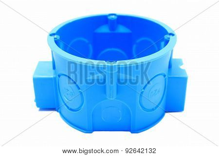 Blue Electrical Box On White Background