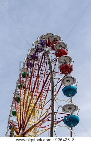 Ferris Wheel At Theresienwiese In Munich, Germany, 2015