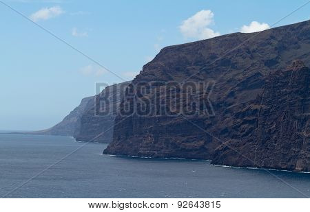 Landscape Of Los Gigantes On A Sunny Day In Tenerife, Spain