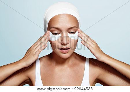 Woman With Eye Patches