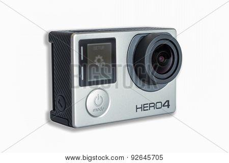 Gopro Hero 4 Black Edition Isolated On White Background