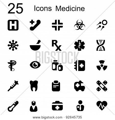 25 Basic Iconset Medicine