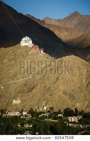 Namgyal Tsemo Gompa And Leh Village, Ladakh, India