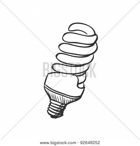 doodle Energy saving light bulb