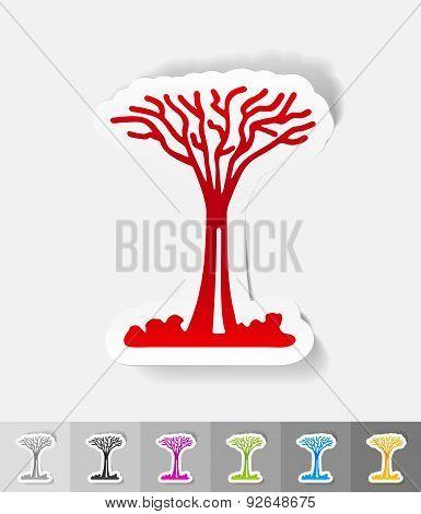 realistic design element. singapore tree