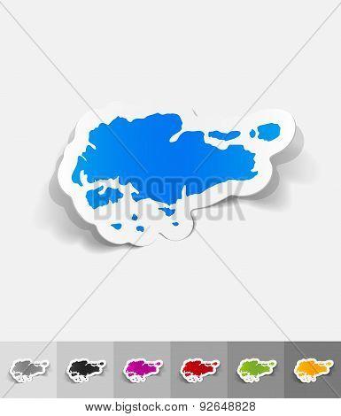 realistic design element. singapore map