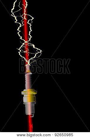 Lightning Stike Spark Plug