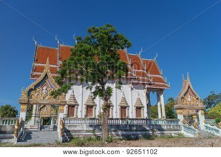 Temple with tree and clear sky