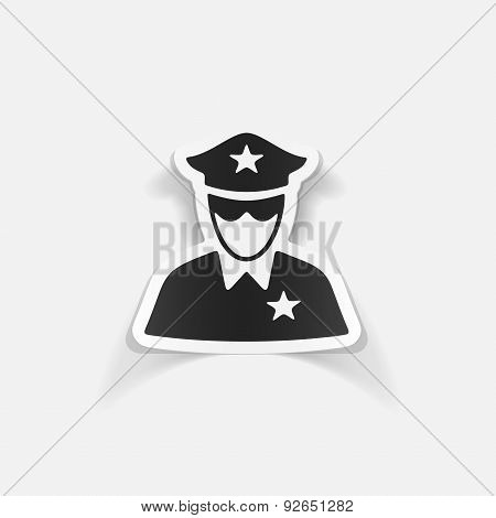 realistic design element. police officer