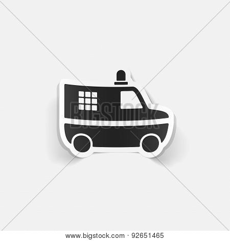 realistic design element. police car
