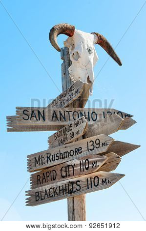 American signpost