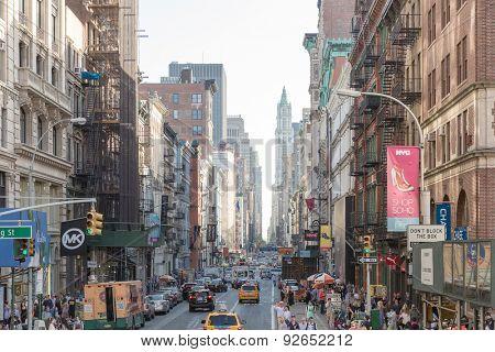 NEW YORK, USA - CIRCA MAY 2015: The busy city of NYC, New York, USA