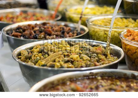 mixed Iranian pickle in a market