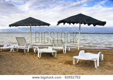 Parasol And Chairs