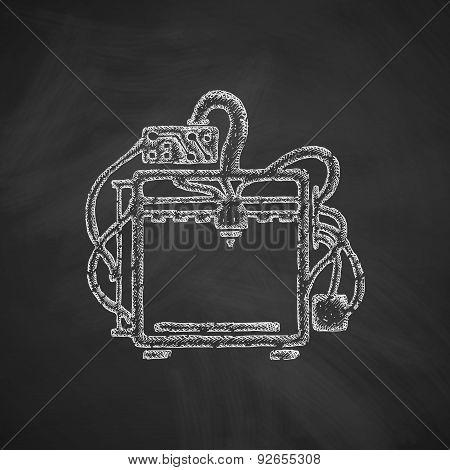 three d printer icon