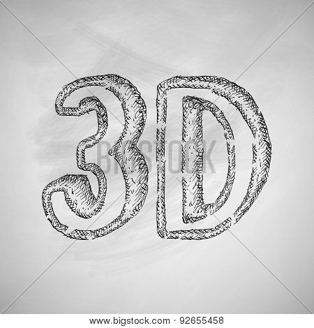 three d icon