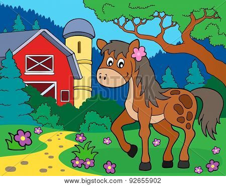Horse theme image 7 - eps10 vector illustration.
