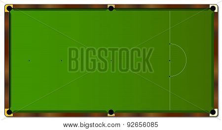 Snooker Table Markings