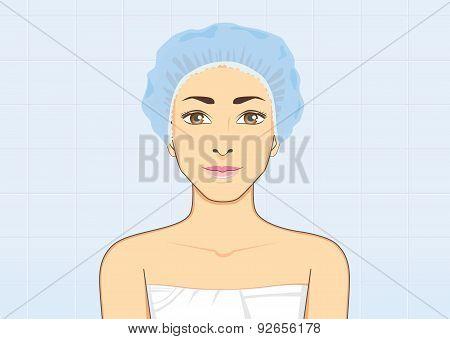 Backside Women Shower