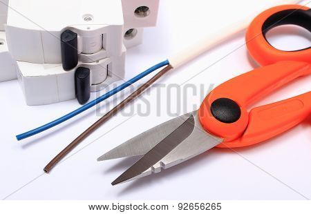Accessories For Engineer Jobs Lying On White Background