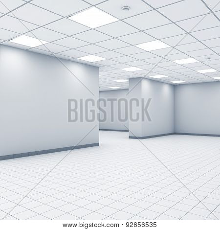 Open Space Background, Abstract Empty Office Interio