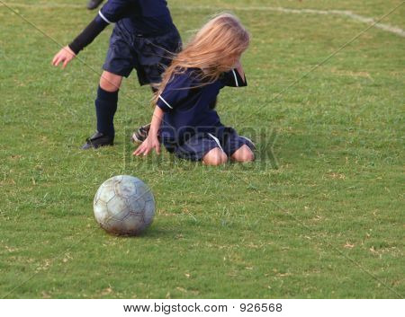 Young Girl Crying Over Soccer Loss