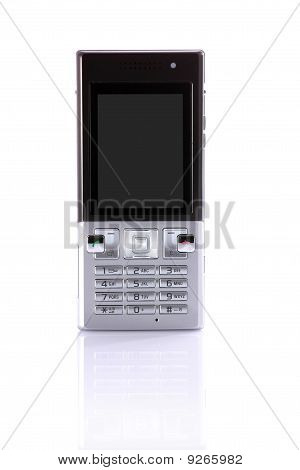 Modern Cell Phone Isolated On White