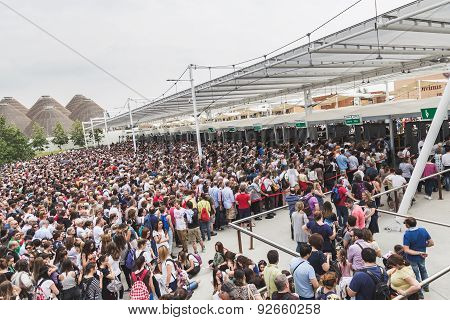 Crowd At Expo 2015 In Milan, Italy