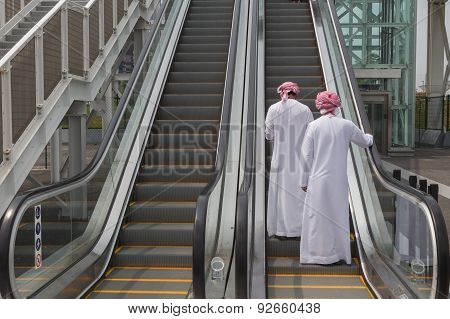 Two Arab Men Visiting Expo 2015 In Milan, Italy