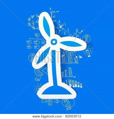 drawing business formulas. wind turbines