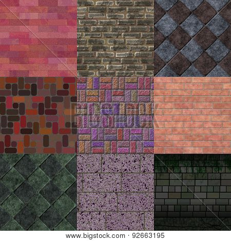 Set of Brick Pavement Generated Tetures