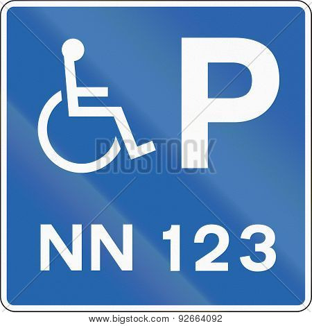 Disabled Parking With Number In Iceland