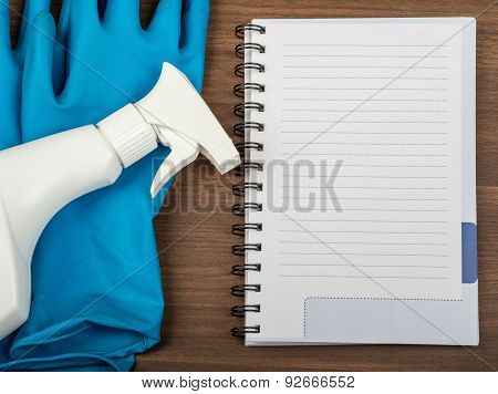 Airbrush with notebook